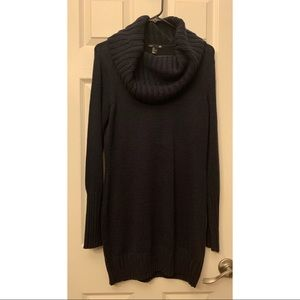 Navy Cowl Neck Sweater Dress